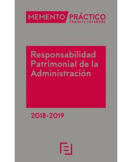 Memento Responsabilidad Patrimonial de la Administración 2018-2019