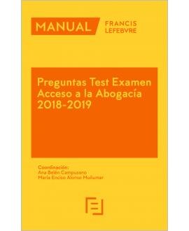 Manual Preguntas Examen Acceso a la Abogacía 2018-2019