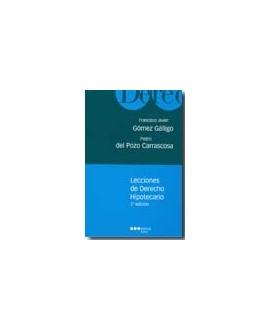 manual Lecciones de Derecho Hipotecario