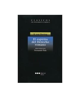 libro El espíritu del derecho romano